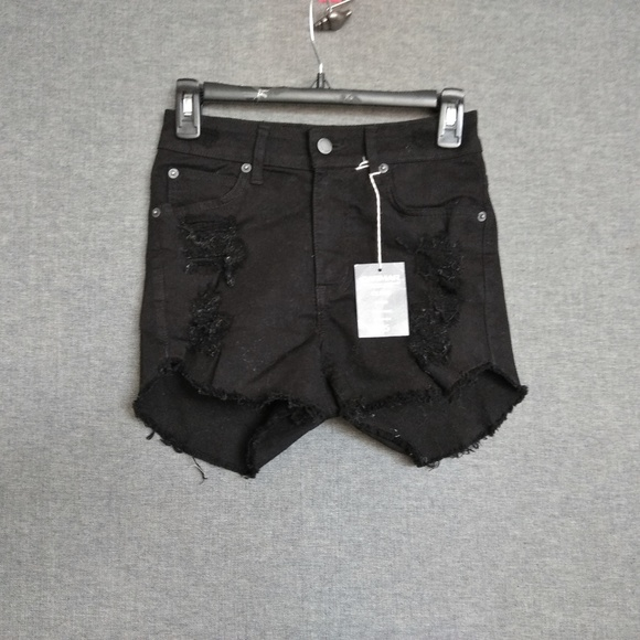 Carmar Pants - Carmar Olivia Fitted High Rise Shorts Destroyed